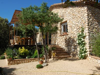 Photo for Small house in stones in the oaks, comfortable + air conditioning