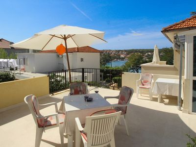 Photo for Holiday apartment 20 m from the beach with sea view