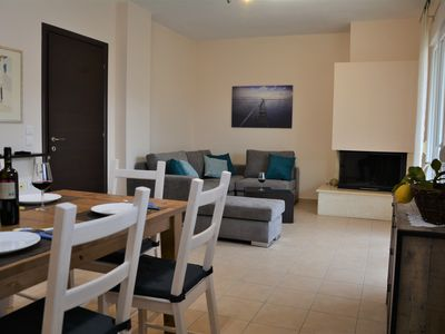 Photo for Beautiful new furnished apartment near Corfu town, free parking