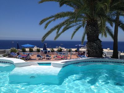 Photo for Lovely Studio Apartment,  Sleeps Two Adults, South Facing with Sea Views, Pool.