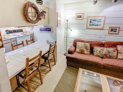 Photo for Comfy pet friendly studio condo, on free shuttle route w/ year round activities