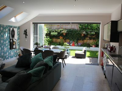 Photo for Stunning  modern large 1 bed garden flat with garden