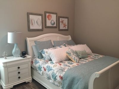Master bedroom with king size bed and roomy closet