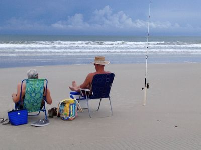 Folks return every year to enjoy the sun and surf and maybe a fish or two.