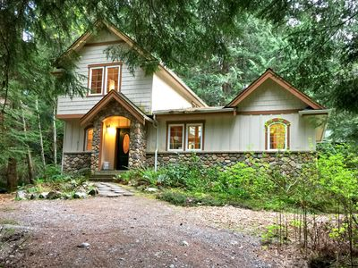 Photo for Snowline Cabin #34 - Great English Tudor-style home with hot tub! Now with Wifi!