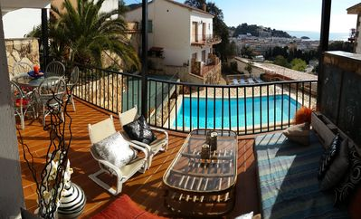 Photo for APARTMENT WITH LARGE TERRACE, POOL AND SEA VIEWS