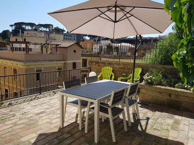 Photo for Terrace with Vatican View, new in the heart of the city
