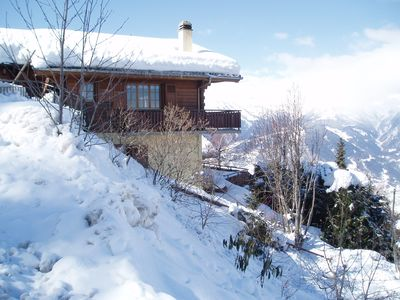 Photo for Comfortable Modern Ski Chalet, with Panoramic Views of Rhone Valley
