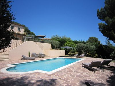 Photo for Stunning 5 bedroom villa with large pool for summer holidays in Biot