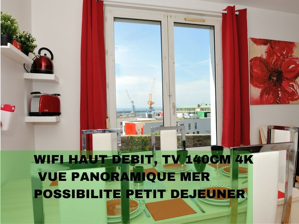 APPART'BREST CITY 1 Poullic al lor (sea view)