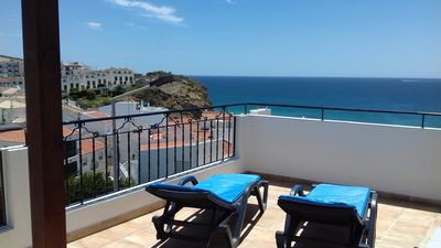 Photo for Charming  apartment in heart of the old village with stunning ocean views