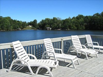 View of the Crystal Blue Lake from the Party Dock