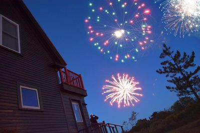 Bridge View has one of the best views of Beals' famed 4th of July fireworks.