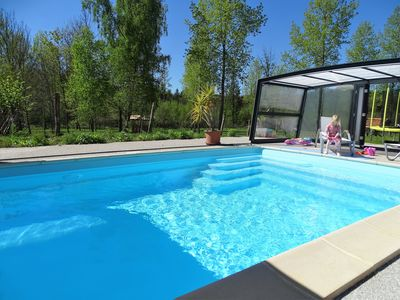 Photo for HOUSE 4 **** PRIVATE POOL SWIMMING POOL + SAUNA + PARK
