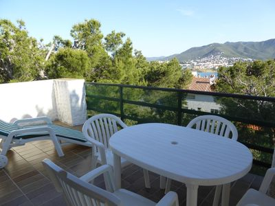 Photo for Nice and bright apartment located in a quiet residential area of Grifeu, 300 meters away f