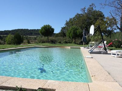 Photo for Nice farm house in the luberon. swimming pool 12 x 6 meters