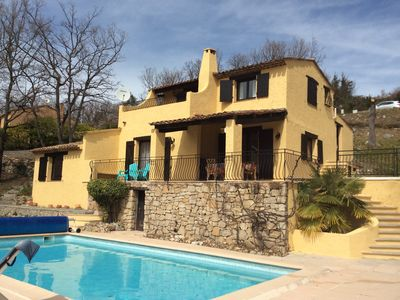 Photo for Luxury villa with large heated pool and outstanding views