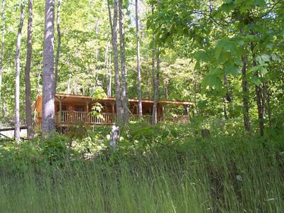 Our cabin is in the wooded area of our 20 acre country property.