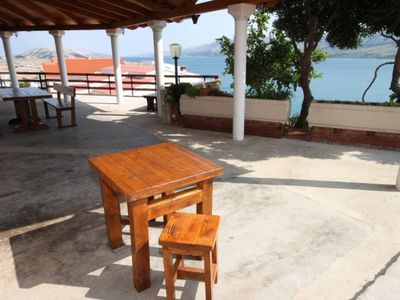 Photo for Studio flat with terrace and sea view Zubovići (Pag)