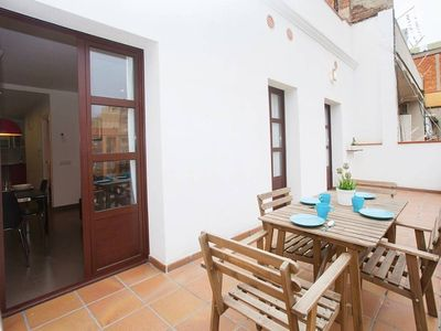 Photo for Beautiful, spacious and with terrace near Plaza Catalunya