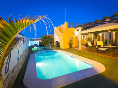 Photo for Large Modern Villa With Heated Pool, Satellite TV, Internet Access