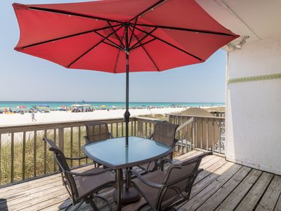 Photo for Gulf Front Townhouse 2BR/BA, Pet Friendly-Small Dog, WiFi, 4 Units Available.