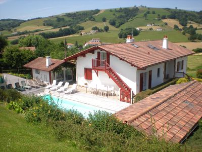 Photo for Traditional Basque house with a pool and a summer kitchen