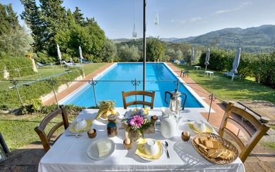 Photo for Nice room for 2 people with WIFI, private pool, A/C and panoramic view, close to San Gimignano