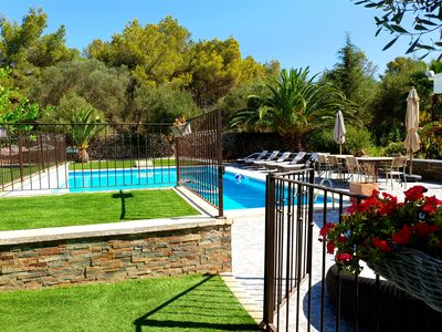 Photo for Galdana's House! Magnificent 6 bedroom villa with pool!
