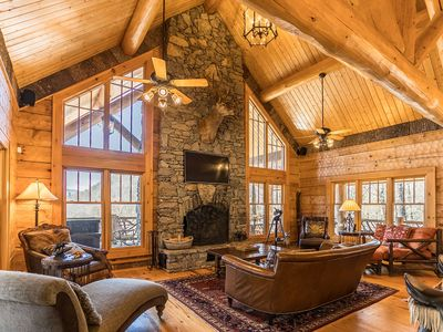 Photo for Red Stag Lodge in Eagles Nest - Hot tub, game room, outdoor fireplace, summer concerts!