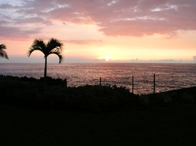 Gorgeous sunsets right from your lanai