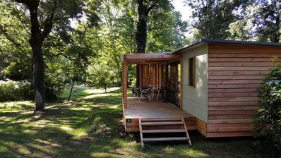 Photo for Camping Huttopia Le Moulin *** - Mobile Home Vancouver 3 Rooms 5/6 People