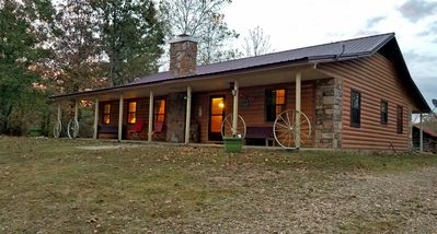 Photo for Granny's Porch: Sleeps 7, Hot Tub, Wifi, Pet Friendly, 40 acres