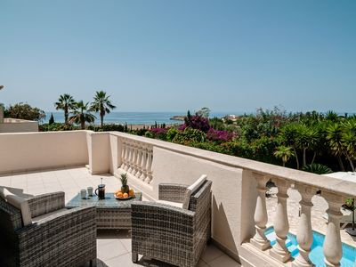 Photo for Stunning 5 Star Contemporary Villa with incredible views of the Mediterranean