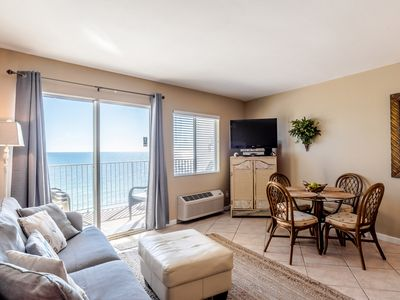 Photo for Beach Front Condo ~ Stunning Gulf Views w/ Private Balcony, Pool, Fitness and Re