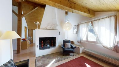 Photo for 2 ½ room attic apartment, about 60m2, one of two apartments in a semi-detached h