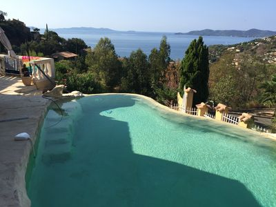 Photo for Villa, heated pool, sea views, Aiguebelle, Le Lavandou, WiFi, air-conditioning, Sauna