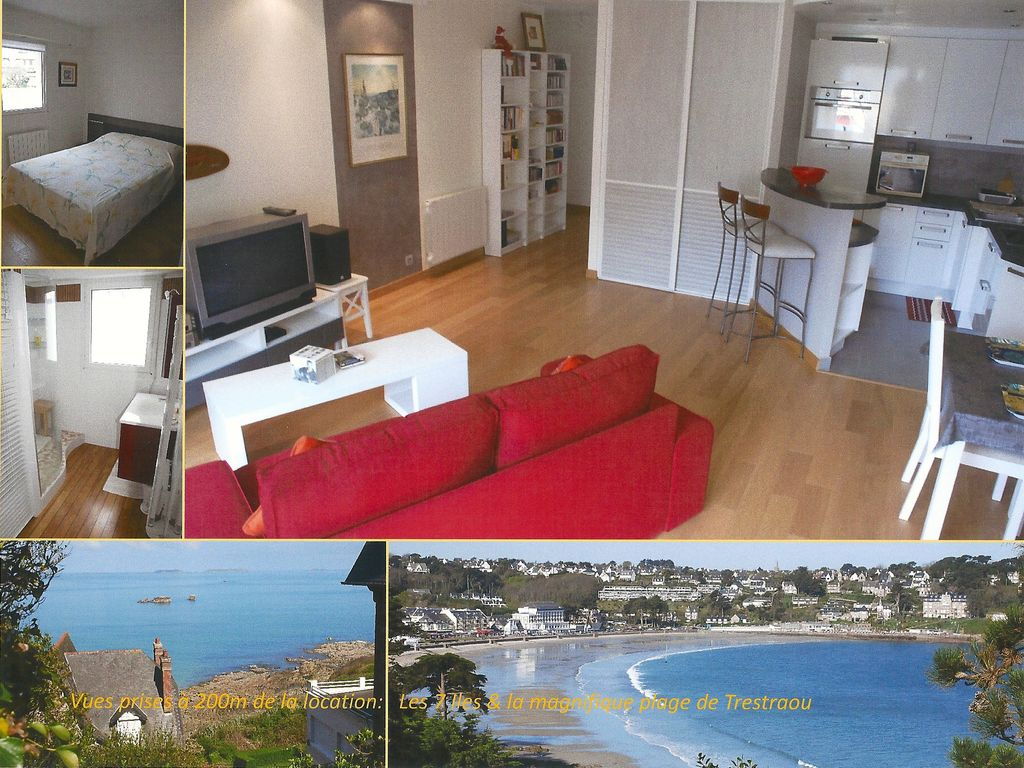 Perros-Guirec Appart Standing 60m²/4-5 pers, Centre-Ville & Mer, Proche Plage, Parking, Wifi