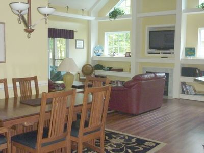 The Pinnacle Dining Room and Family Room