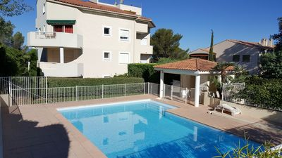 Photo for Absolute calm for this beautiful 3 * beach apartment, air conditioning, garage