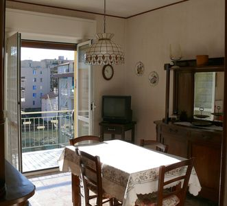 Photo for Large and sunny apartment with 5 beds at 250m from the beaches