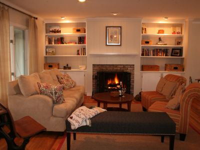 Living room/wood burning fire place