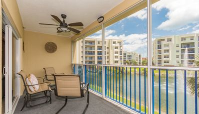 Photo for Tastefully decorated 3/2 condo overlooking the fountain! Ocean Walk, Building 11#203