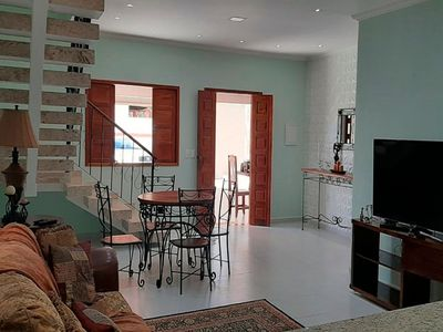 Photo for House for 10 people with 3 bedrooms, gourmet area and balcony with sea view of Santa Cruz Cabrália