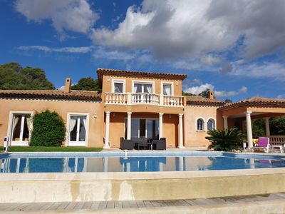 Photo for Very nice villa with pool, beautiful sea view, for 6 persons in SAINTE MAXIME.