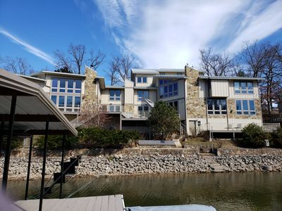 Photo for Lakefront Architectural Wonder in the Heart of Osage Beach!  w/ Dock & Hot Tub