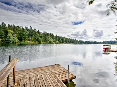 Photo for Anderson Island Home w/Lakefront Deck, Dock &Canoe