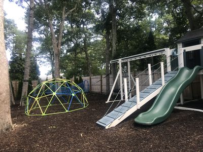 Photo for Huge Children's Playground Set, swings and Fenced-in and Heated Pool!