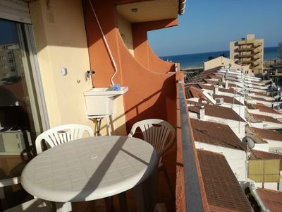 Photo for Apart. near the paseo - feet in the water - Less than 100 meters from the beach