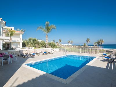 Photo for Villa Shaye, Stunning 4BDR Seafront Protaras Villa
